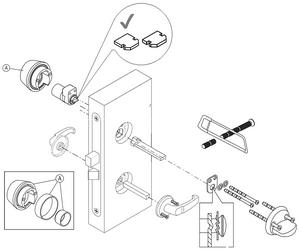 Монтажная схема цилиндров Abloy CY001 U/N/T на замок LC200