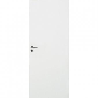 Белые гладкие двери МДФ