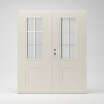 Фрамуги, двустворчатые двери