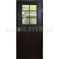 Деревянная входная дверь со стеклом Scandi 020