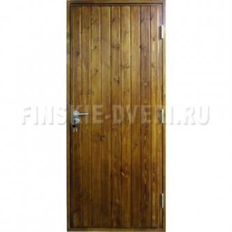 Входная деревянная утепленная дверь