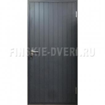 Утепленная входная деревянная дверь для дачи Scandi 010 окрашенная