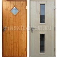 недорогая входная деревянная дверь