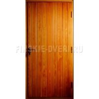 Деревянная входная дверь в баню Scandi 010 Лиственница Экстра