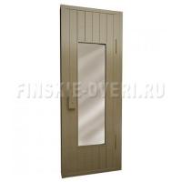 Банная дверь в парную со стеклом