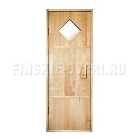 Дверь в парную с квадратным стеклом