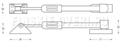 Дверной тормоз (останов) M-FIX  аналог abloy 523/2