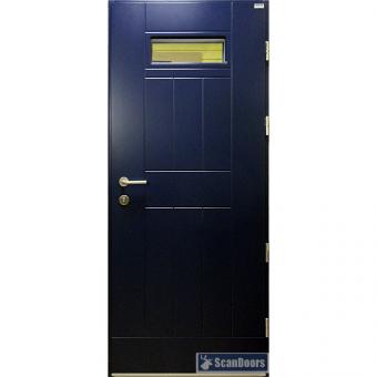 Входные деревянные двери со стеклом Scandoors FW019
