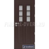 Входные двери в дом со стеклом Scandoors СW08