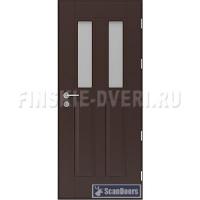 Деревянные двери со стеклопакетом Scandoors СW021