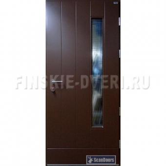 Уличные двери со стеклом Scandoors FW031