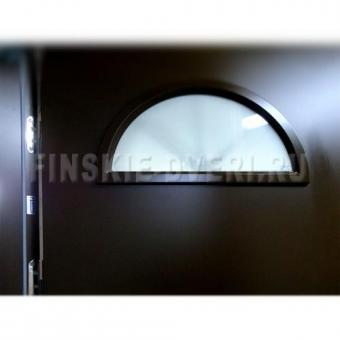 Теплая входная дверь с арочным стеклом