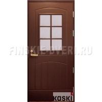 Входная дверь со стеклом Kaski ST2000L