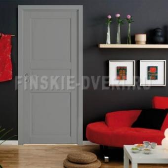 Крашенная финская дверь филенчатая МДФ с коробкой