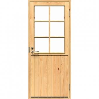 Деревянная дверь со стеклом MOKKI 2