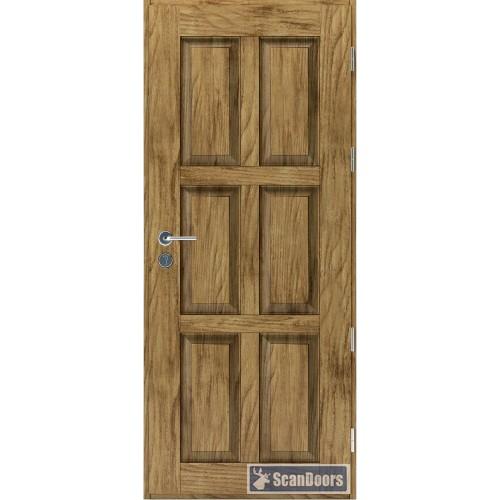 Входная дверь Беленый дуб Scandoors Wood С09