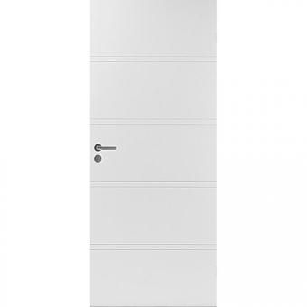 Белая гладка усиленная дверь EF400 28dB