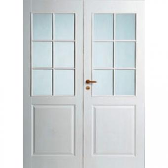 Двустворчатые двери межкомнатные Alavus 250/6LR/PARI с коробкой