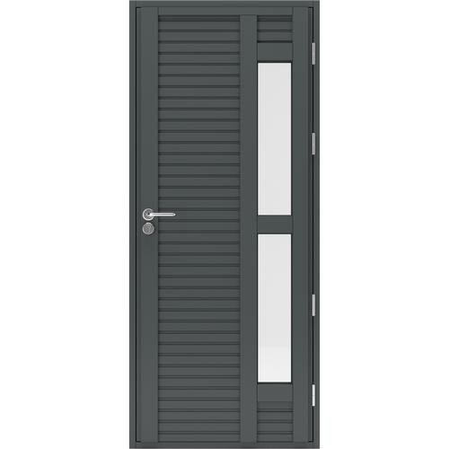 Входная деревянная дверь со стеклами Scandi Plus W081