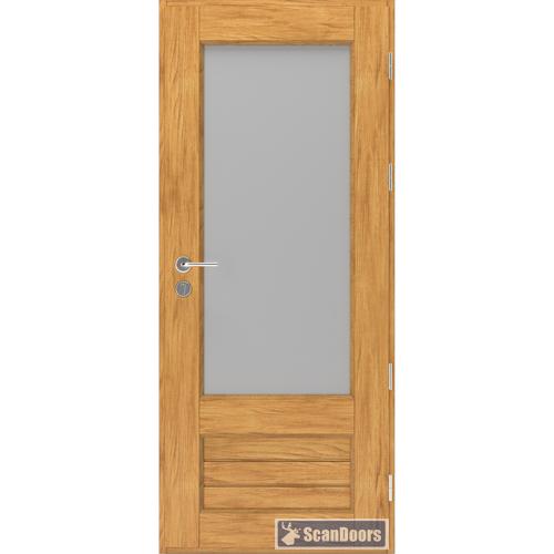 Входные двери из массива со стеклом Scandoors Wood FW022
