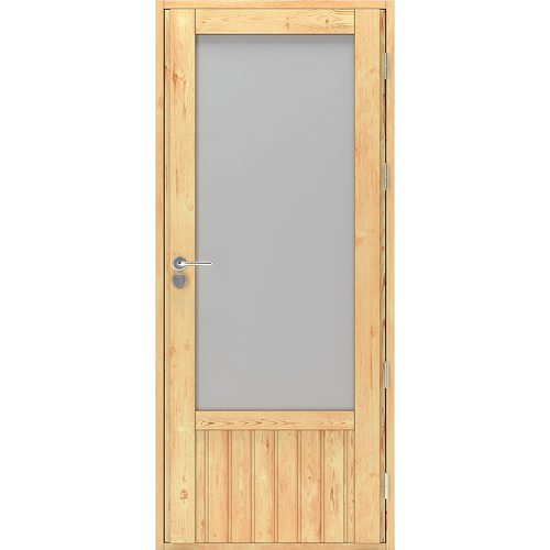 Деревянные двери со стеклом входные Scandi Plus W022