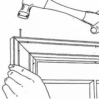 Установка наличников и доборов на окна
