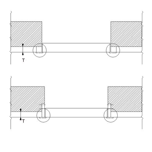 Наращивание проема для установки двери в плоскость фасада