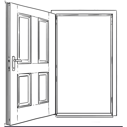 Утолщение проема для установки двери в плоскость фасада