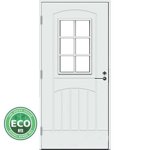Финская входная дверь со стеклом Jeld-Wen F2000  W71 ECO