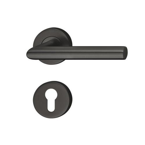 Дверная ручка из нержавеющей стали черная