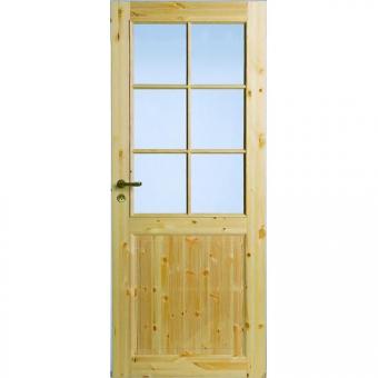 Двери из сосны N52 со стеклом