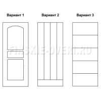 Двери двухстворчатые входные деревянные Scandi