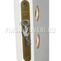 Дверь финская межкомнатная белая 3х-филенчатая N1