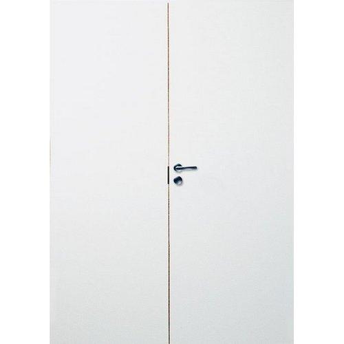 Дверь белая гладкая двупольная JELD-WEN с коробкой