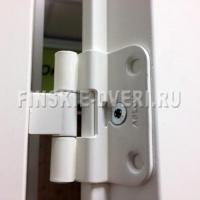 Дверь белая гладкая двухстворчатая JELD-WEN с коробкой